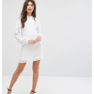 NWT ASOS Fashion Union smock neck mini dress sz 2
